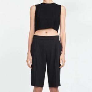 Zara Pants - Zara flowing pleated bermuda  shorts (NWOT)