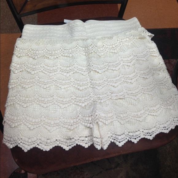 Shorts Off White Plus Size Crochet Poshmark