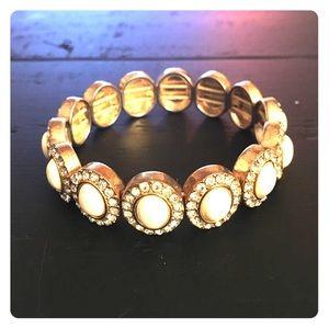 J Crew bracelet White enamel w sparkle.