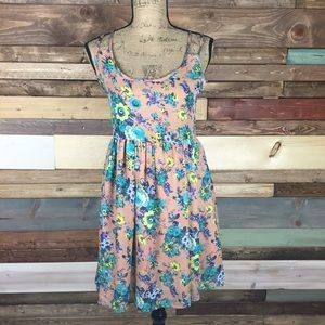 Bar III Dresses & Skirts - Bar III Semi Sheer Pink Floral Dress - S