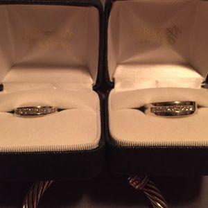 Jewelry - Diamond 14wg bands