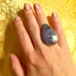 Jewelry - Blue Silver Stone Ring