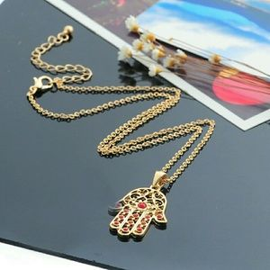Jewelry - SALE!!! Hamsa Hand Of Fatima Lucky Pendant