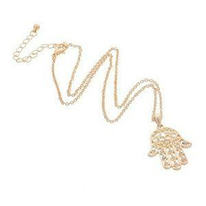 Jewelry - SALE!!!Hamsa Hand Of Fatima Lucky Pendant