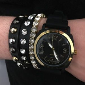 Viscid Watch Black with gold