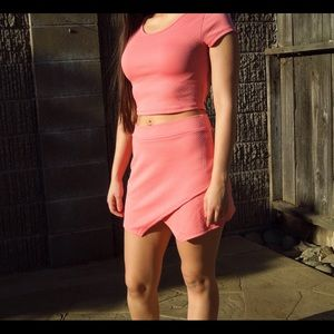 Boutique Dresses & Skirts - Pink Skirt and shirt Co-ord Set