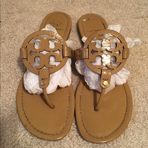 d4c0f04f137101 Tory Burch patent sand Miller sandals Sz 10. M 57009e6d7fab3a65d30b64f6