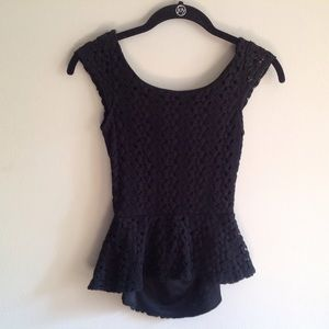 PacSun Tops - Lace peplum top with open back