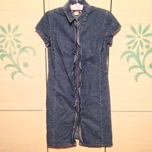 BOGO  90's Vintage Chambray Denim Dress