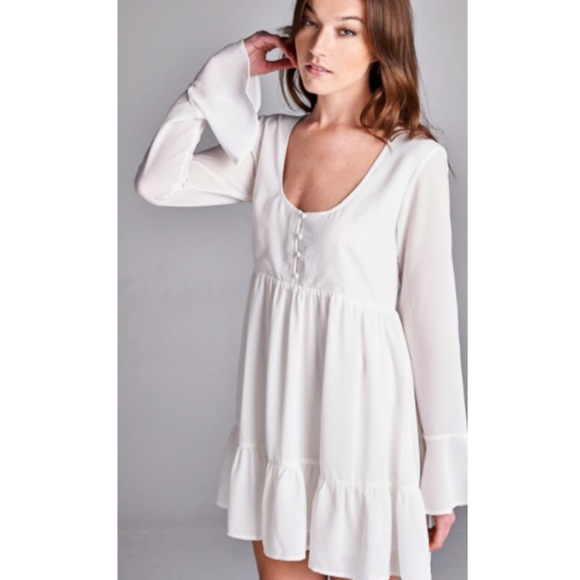 7e15e6f65ef Last One • Honey Punch Bell Sleeve Baby Doll Dress Boutique