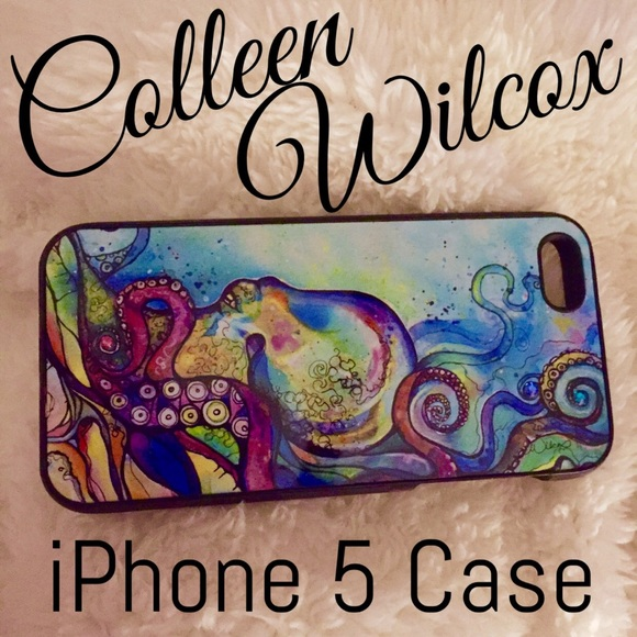 f6460253a97 3rdi galleries Accessories - Colleen Wilcox Octopus iPhone 5 Case  3rdiGalleries