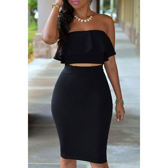 53% off Dresses & Skirts - Tube top, high waisted skirt from ...
