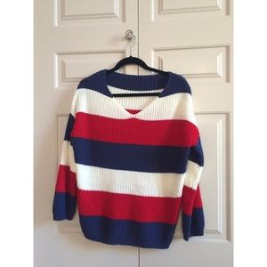 *NEW* American Striped Oversized Sweater