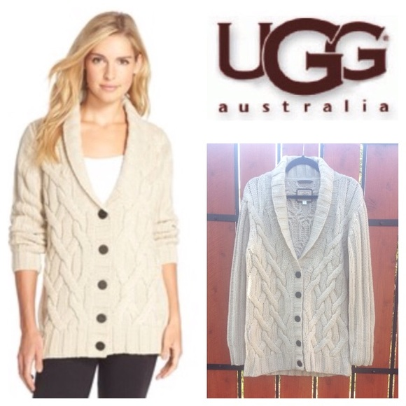 UGG  Margie  cable-knit shawl cardigan. M 570125ea9818297be80be97e 3bb01f70d