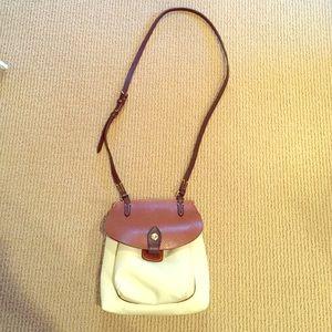 Dooney & Bourke Tan and Beige leather bag