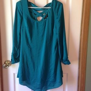 Turquoise shirt dress/tunic