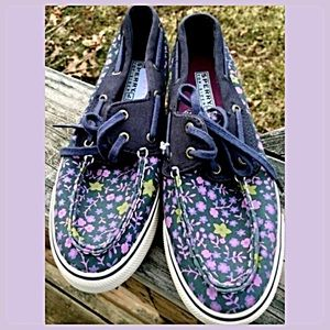 Cute Flowered Sperry Top-Siders! NEW!