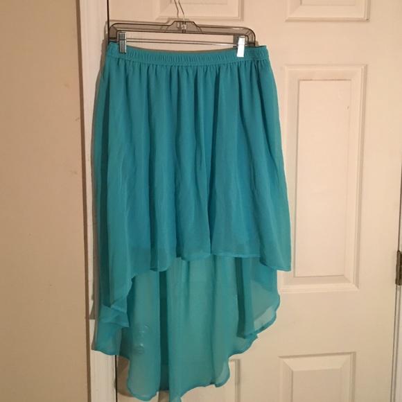 68 forever 21 dresses skirts high low light blue