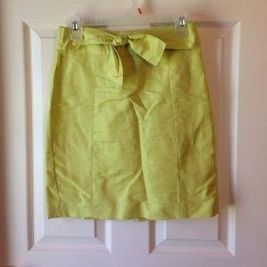 Citrus pencil skirt