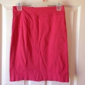Watermelon pink banana republic skirt