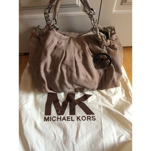 Michael Kors Erin Large Shoulder Python Bag