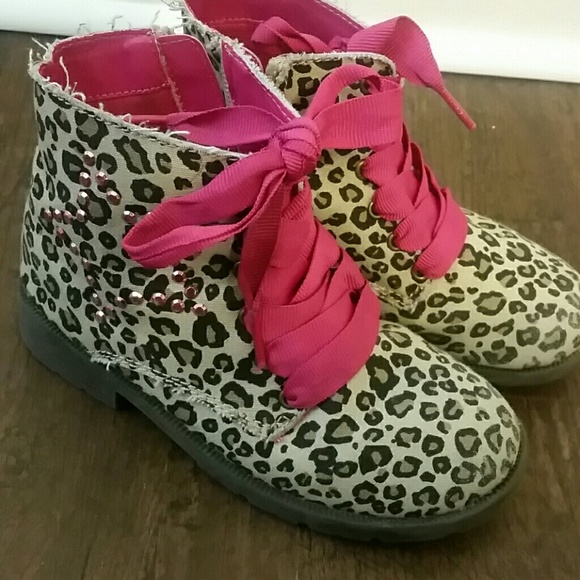 64% off Children's Place Shoes - Girls Size 12 Leopard Print Boots ...