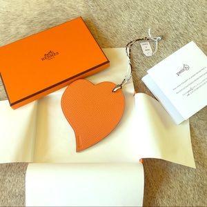 Hermes Handbags - BNIB Hermes Togo and Epsom GM size Heart Bag Charm