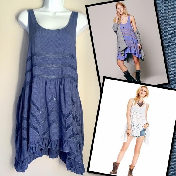 Free People Dresses & Skirts - Free People Blue Slip Dress!