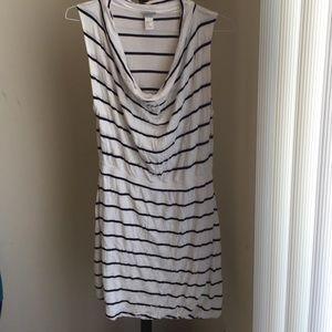H&M white and black striped dress