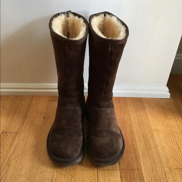 40335b76950 Tall brown zipper back UGG boots