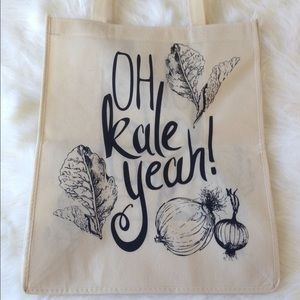 Oh kale yeah! Reusable tote/grocery bag