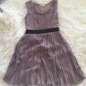 Mauve Dress with Sheer Overlay