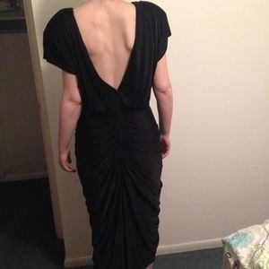 Vintage Black Grecian Skirt Gown, Gorgeous Back
