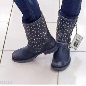 68f88d9d8867 Frye Shoes - Frye Jenna Cut Stud Short Moto Boot Stonew Leather