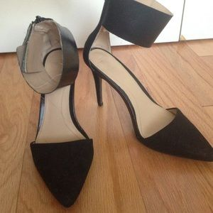 a9c75c5d37 Zara Shoes | Pointed Ankle Strap Heels | Poshmark