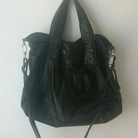 76% off Topshop Handbags - Topshop Slouchy Leather Shoulder Bag ...