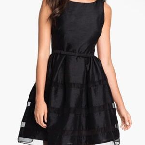 Taylor tonal fit and flare dress