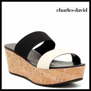Charles David Shoes - ❗️1-HOUR SALE❗️CHARLES DAVID Leather Wedge Sandals