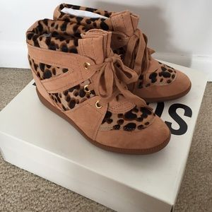 SCHUTZ Shoes - NWT Schutz Leopard Hidden Wedge Sneakers