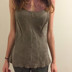  Taupe Anthropologie tank top