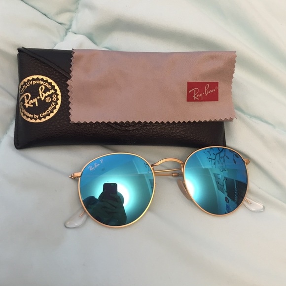 1f7aeaf46a Ray-Ban Polarized blue round flash lens glasses. M 57017231713fde9a670c9613