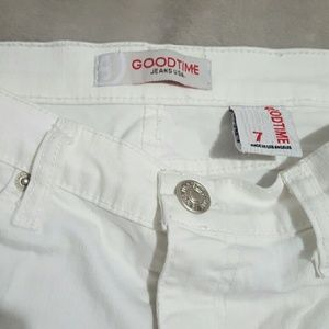 Goodtime  Jeans - Goodtime White Ripped Skinny Jeans