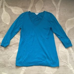 GAP 3/4 Sleeve Aqua Top