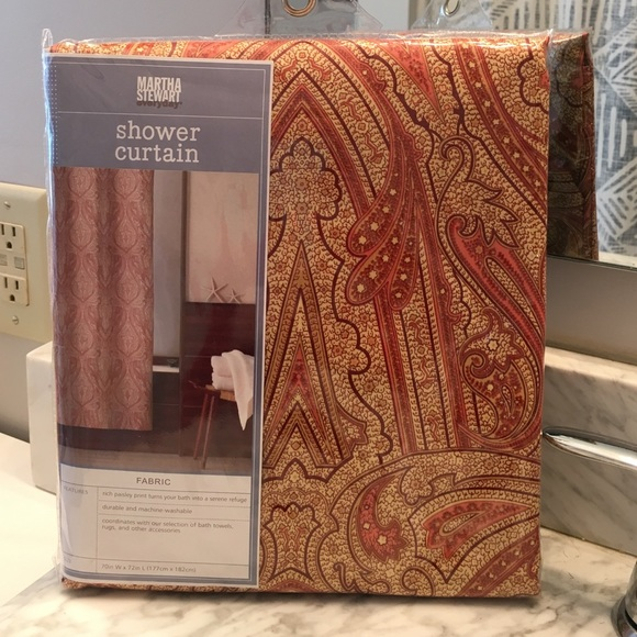 Martha Stewart Other | Paisley Shower Curtain | Poshmark