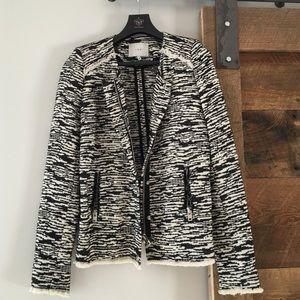 IRO black/cream knit jacket size 36