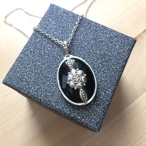 Silver and Onyx Pendant