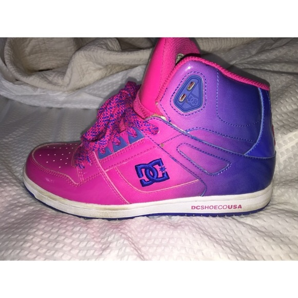 DC Shoes | Ombr Pink And Blue High Top