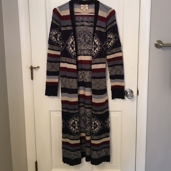 Hippie Rose - Aztec Duster Cardigan from Victoria's closet on Poshmark
