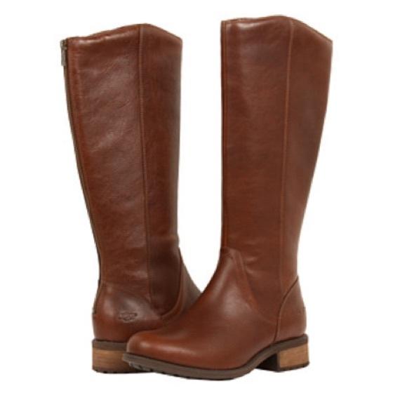 2c5c46ce16c NEW UGG Seldon Tall Boots Dark Chestnut 9.5 NWT