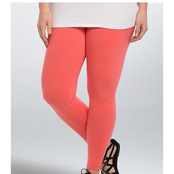 633ddd37c7c NWT torrid size 1 coral premium leggings